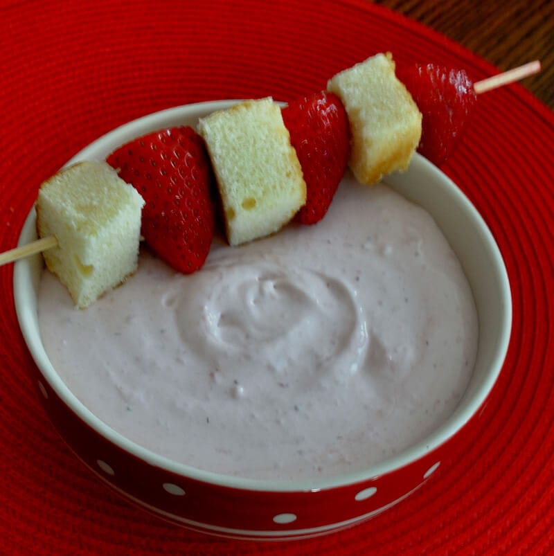 Strawberry Shortcake Dip- The great flavor of strawberry shortcake in an easy and fun dip