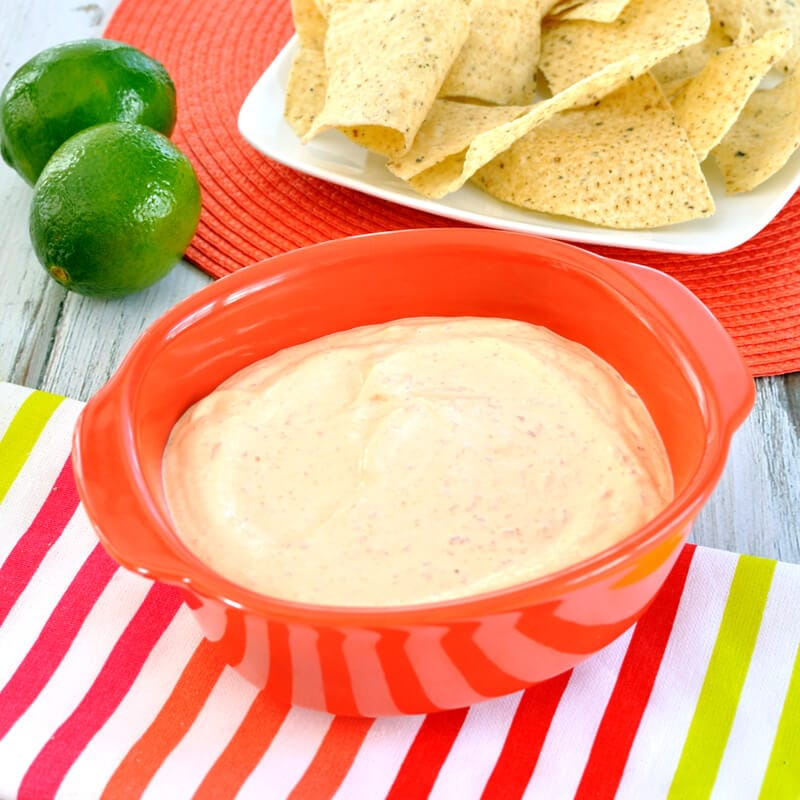 Creamy dip recipe with a hint of lime and the smoky and spicy flavor of chipotle peppers. Chipotle dip makes a great appetizer for your summer cookouts.
