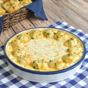 Cheddar bay biscuit dip recipe with all the great garlic and cheese flavor of the famous biscuits. Great with homemade mini cheddar bay biscuits.