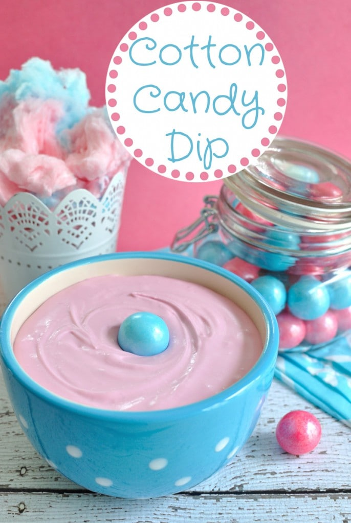 Bring the state fair home with this fun cotton candy dip. This dessert dip recipe uses actual cotton candy and is perfect for a kids party or baby shower.