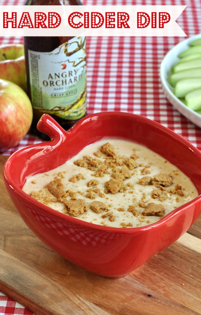 Fun and easy dessert dip recipe for the adults. Hard apple cider fruit dip will be a hit at your fall or Halloween party. Serve with apples, graham crackers, or cookies.