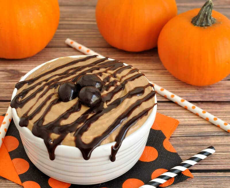 Pumpkin Mocha Dip is a perfect fall dip recipe for pumpkin, chocolate, and coffee lovers! Great appetizer or dessert for a fall or Halloween party.