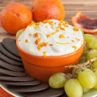 Blood Orange Cream Cheese Fruit Dip