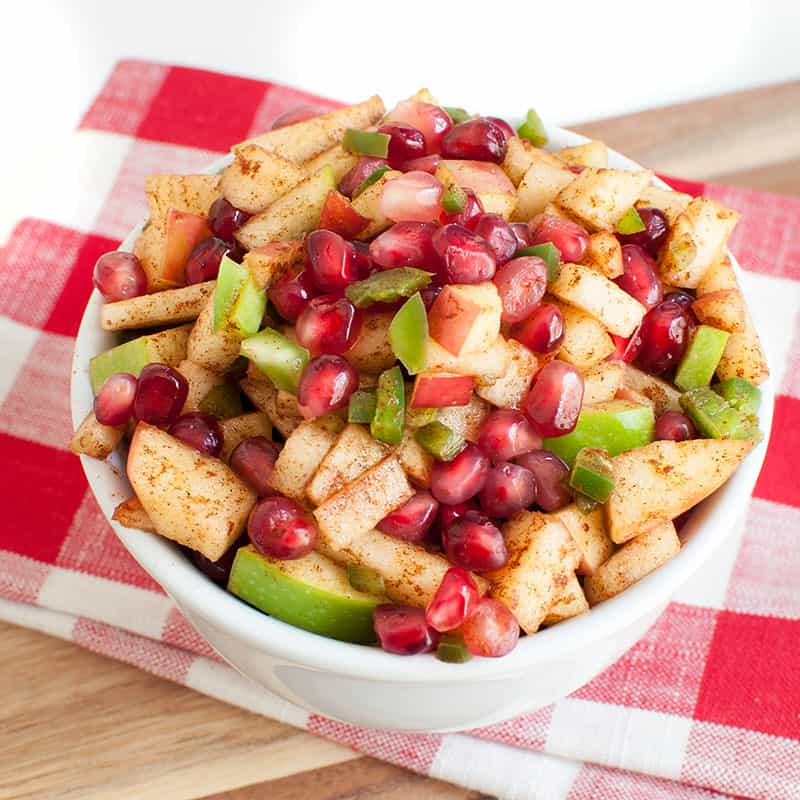Apple Salsa with Pomegranate