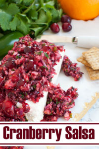 pinterest photo for Cranberry Salsa with Jalapenos and Cream Cheese